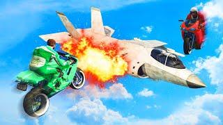 KAMIKAZE BOMBER PLANES vs. FLYING BIKES! (GTA 5 Funny Moments)
