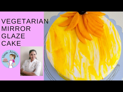 Vegetarian Mirror Glaze Recipe - How to make a Vegetarian Mirror Glaze Cake - Glaze Icing