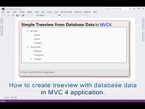 How to create treeview with database data in MVC 4 application.