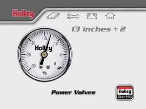 Holley Power Valve Tuning Tips