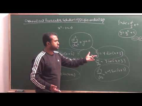 General & Particular solution of Differential Equation | CBSE 12 Maths NCERT Ex 9.2 intro