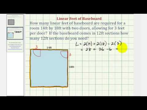 Ex: Perimeter Application - Linear Feet of Baseboard Needed for a Room