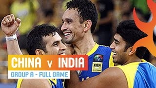 China v India - Full Game Group A - 2014 FIBA Asia Cup