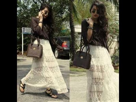 HOW TO MAKE A LACE MAXI SKIRT FOR BEGINNERS