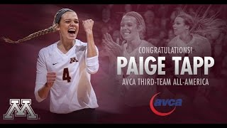 Paige Tapp: 2014 Gopher Volleyball Highlights