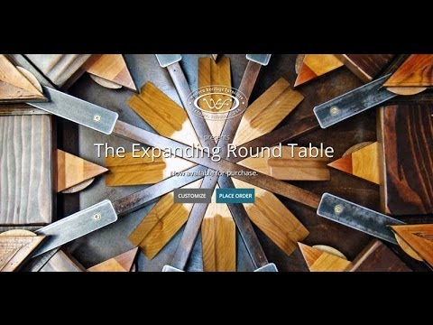 Expanding Round Table from Reclaimed Barn Wood