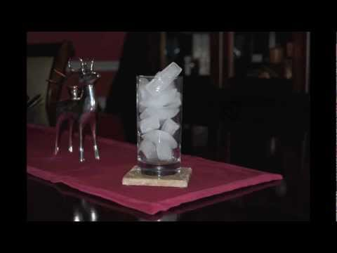 Time Lapse Glass of Melting Ice