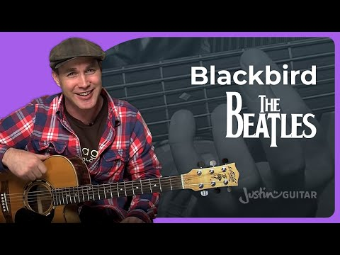 Blackbird - The Beatles - Acoustic Guitar Lesson (SB-113) Paul McCartney How To Play Guitar