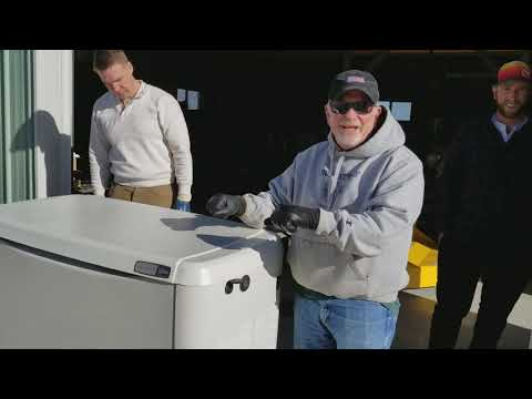 How To Lift A Generac Generator 22kW Standby Generator System & Put In Place