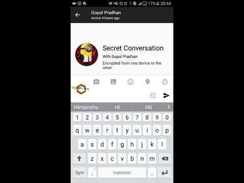 How to Start Secret Conversation on Facebook - Send Self Destructive Message on Facebook Messenger