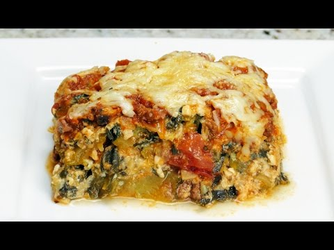 Zucchini Lasagna: Low Carb, Healthy & Gluten Free