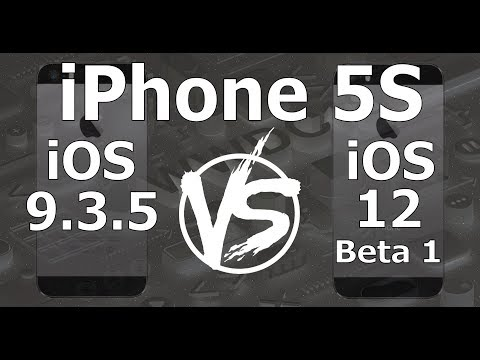 Speed Test : iPhone 5S - iOS 9.3.5 vs iOS 12 Beta 1 Build 16A5288q