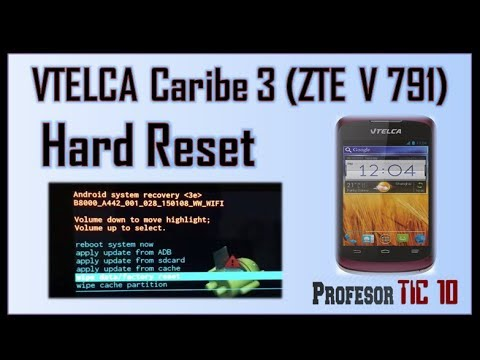 Cómo hacer Hard reset (desbloquear, formatear) Caribe 3| How to make a hard reset to ZTE V791