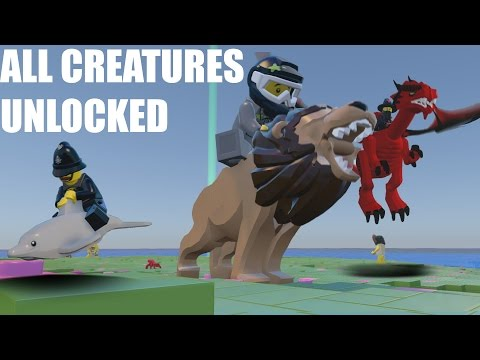LEGO Worlds - ALL CREATURES UNLOCKED (UPDATE 6)