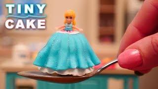 Teeny Weeny Challenge Miniature Princess Doll Cake | How Small Can I Bake? Ann Reardon