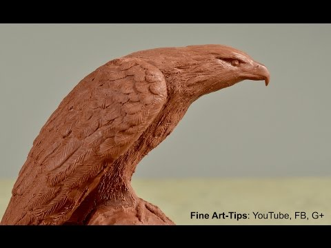 How to Sculpt an Eagle - How to Model an Eagle in Clay - Sculpture Tutorial by ArtistLeonardo