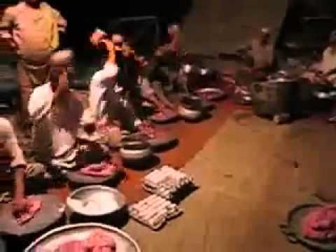 Kashmiri wazwan in making