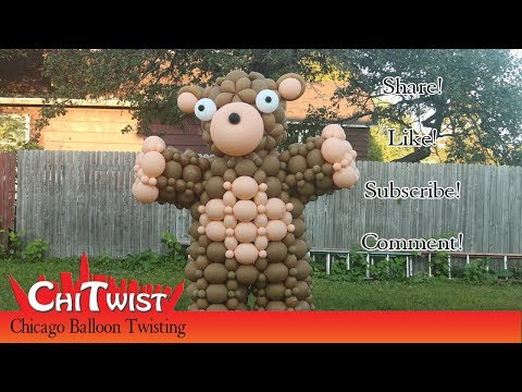 HUGE Balloon Bear Costume! | ChiTwist Balloon Animals