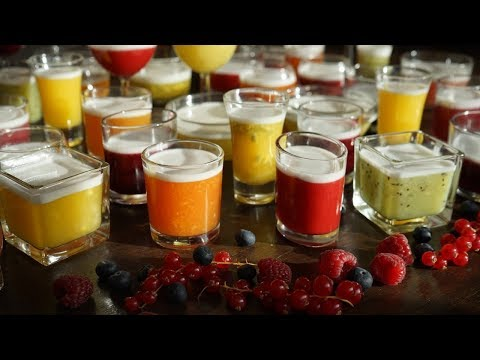 Fruit Agar Jelly - Rainbow of Colors - Without Artificial Colourings - Morgane Recipes