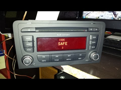 How unlock AUDI chorus,concert,gamma symphony.RADIO SAFE Mode unlock code PIN decode