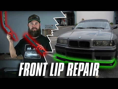 HOW TO REPAIR A DAMAGED FRONT LIP... THE EASY WAY!