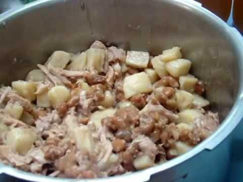 71 Homemade Soup, Green beans, Pork, Pinto beans, potatoes, stock yummy