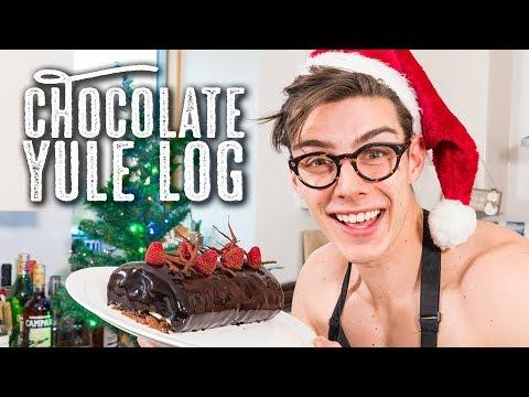 Chocolate Yule Log - Topless Baker