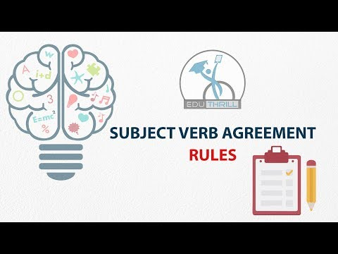 Easy way to understand Subject Verb Agreement Rules