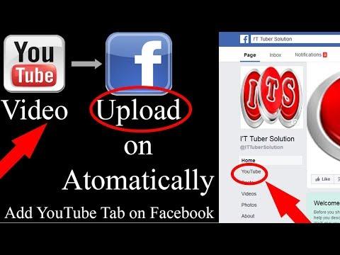 How To Youtube Channel And Add Youtube Tab button On Facebook Fanpage 2018