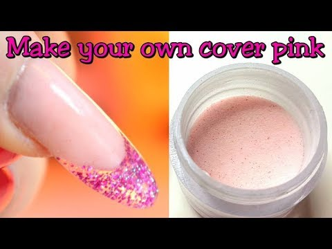 HOW TO MAKE YOUR OWN VALENTINES COVER PINK ACRYLIC POWDER | IdleGirl