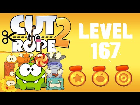Cut the Rope 2 - Level 167 (3 stars, 78 fruits, 1 star + don't use Roto's help)