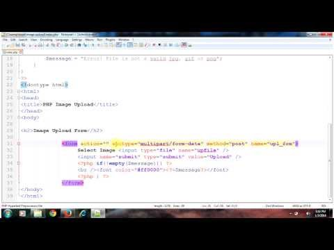Image Upload Form - PHP Tutorial