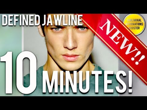 🎧 GET A DEFINED JAWLINE IN 10 MINUTES! SUBLIMINAL AFFIRMATIONS BOOSTER! REAL RESULTS DAILY!