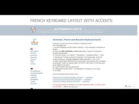 French Keyboard Layout with accents for MS Windows