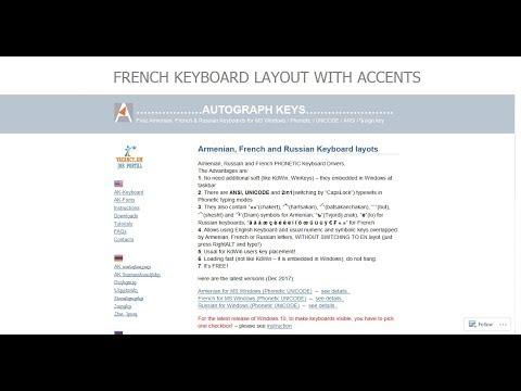 French Keyboard Layout with accents for MS Windows - ի համար ֆրանսերեն ստեղնաշար (շեշտանշաններով)