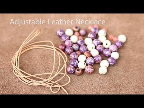 Easy Adjustable Necklace Tutorial