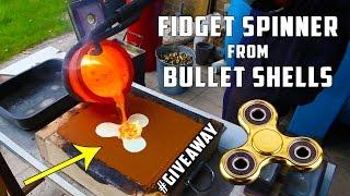Casting Brass Fidget Spinner from Bullet Shells