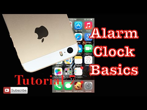 Setting the Alarm on your iPhone 5s | Tutorial 7