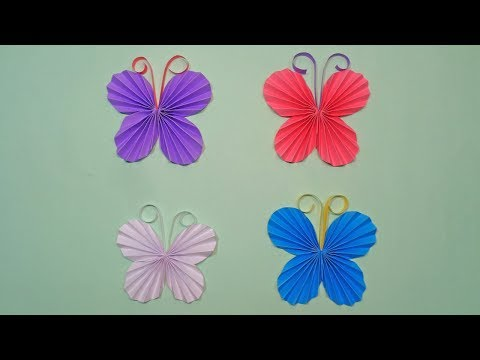 DIY Paper Butterfly - How to Make Colored Paper Butterflies | Easy Origami