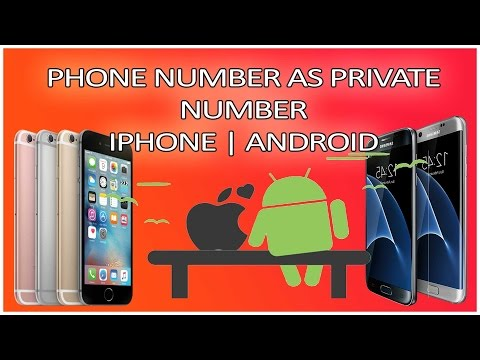 Make Your Phone Number as PRIVATE NUMBER | iPhone | Android |