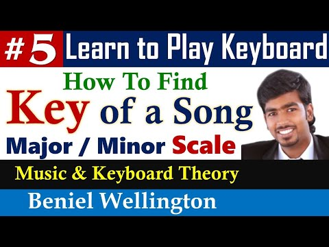 How to find Scale of a Song in Keyboard Tamil   Key in Major or Minor   Tamil Keyboard Lessons