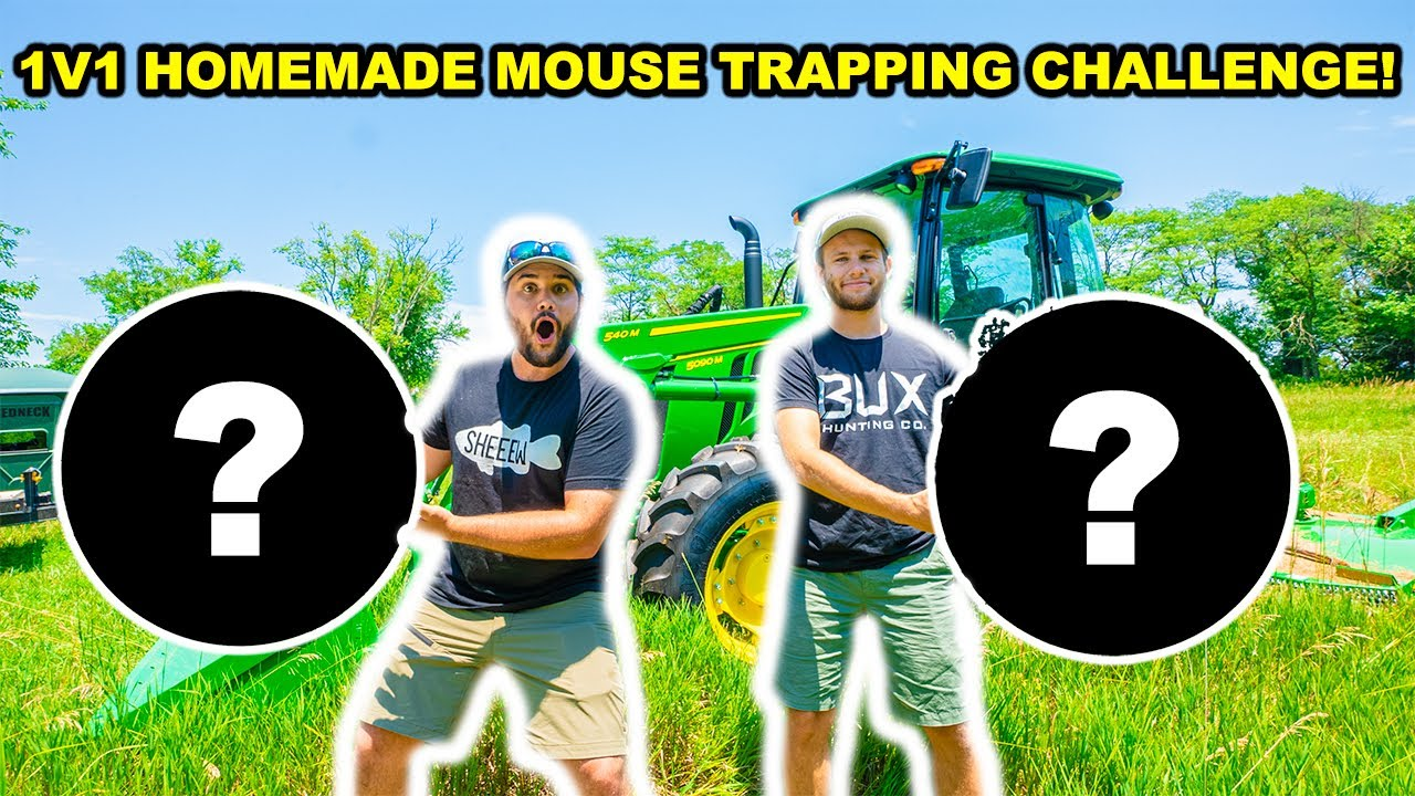 1v1 HOMEMADE DIY Mouse Trapping CHALLENGE at the ABANDONED RANCH!
