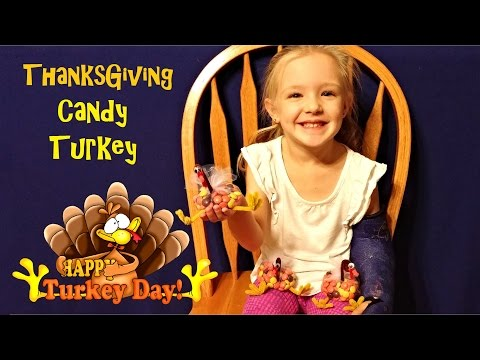 How to Make Thanksgiving Turkey Candy Crafts