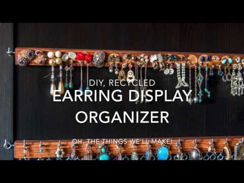 diy earring holder display organizer