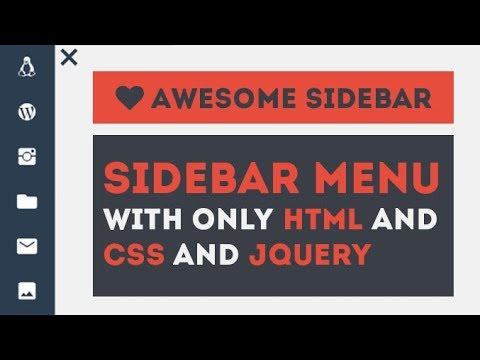 Awesome Sidebar Menu With Toggle - Using HTML CSS JQuery