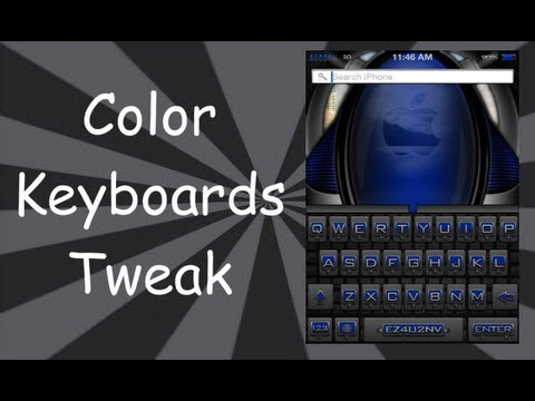 Change Keyboard Color & Style For iPhone 5, 4S, 4, 3GS, iPad 4, 3, 2, iPod Touch 5, 4