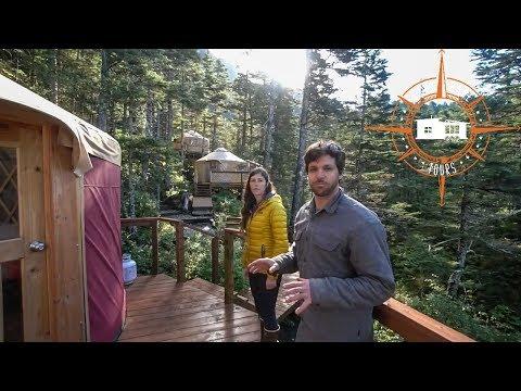 Couple Builds DIY Remote Off The Grid Alaskan Yurt Village