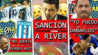 RACING le GANÓ a BOCA y TERMINÓ su INVICTO+ Dura SANCIÓN de CONMEBOL a RIVER+ TEVEZ opina de SEMIS