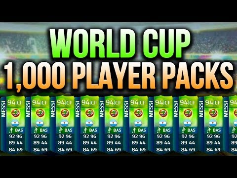 FIFA 14 - WORLD CUP PACK OPENING!!! - FIFA 14 World Cup Ultimate Team w/ 1,000 World Cup Players!
