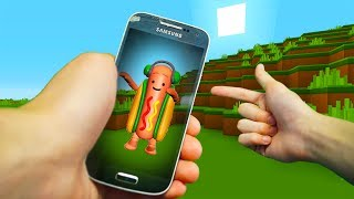 REALISTIC MINECRAFT - STEVE MEETS THE DANCING HOT DOG!🌭